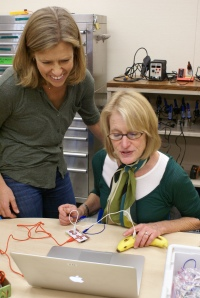 Julia working with Nancy at White Hill