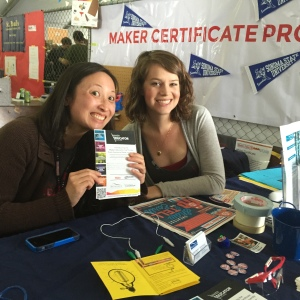 Angi and Carlie at the Bay Area Maker Faire